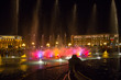Leinwanddruck Bild - Night Yerevan and singing fountain in the central square