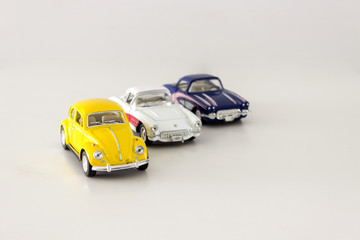 Isolated Three Classic Car Model