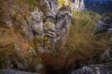 view from the Bastei , Saxon Switzerland, Germany