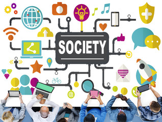 Society Community Global Togetherness Connecting Internet