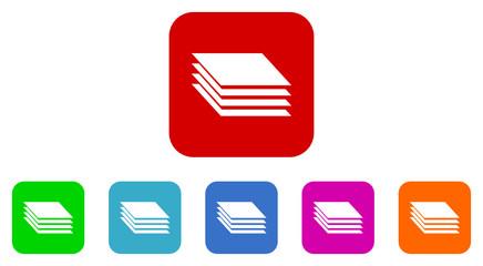 layer vector icon set