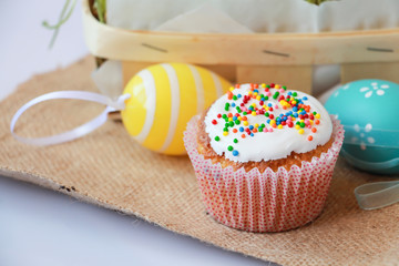 Easter cake with holiday decoration