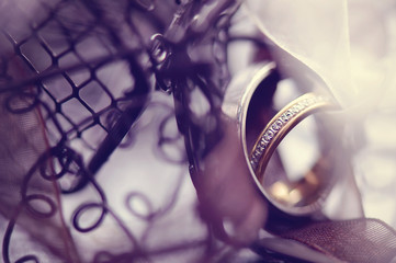 Wedding rings in a birdcage
