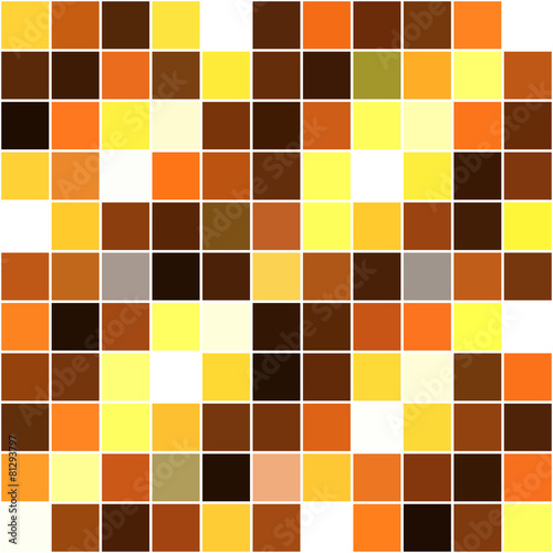 yellow-white-brown square mosaic seamless background