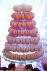 Macaroons on rounded plate