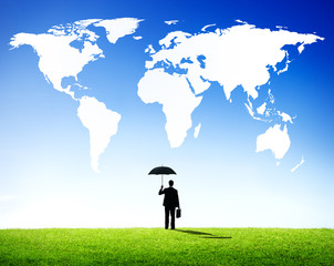 Global Business People Protection Concept