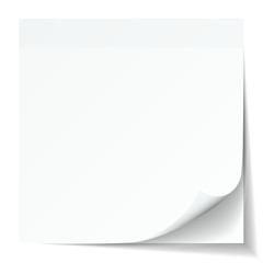 White Stick Note Pad