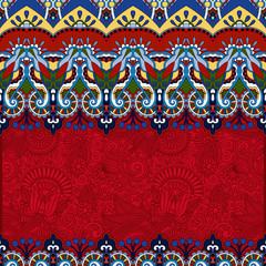 red ornamental floral folkloric background for invitation
