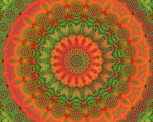 Colorful meditation mandala