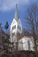 Saint Martin Church at Lake Bled, Slovenia.