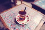 Traditional cup of turkish tea