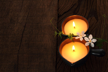 Two candle for  massage.