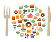 Food Icons Background