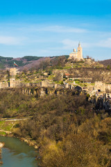 Tsarevets fortress and Patriarch church in Veliko Tarnovo