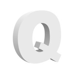 Vintage Vector 3d Q Text