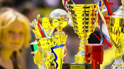 Several Golden Cups For Winners