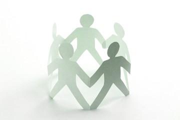 Mitarbeiter Zusammenhalt Konzept