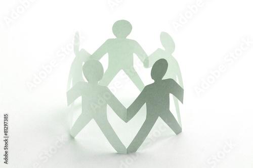 Leinwanddruck Bild Mitarbeiter Zusammenhalt Konzept