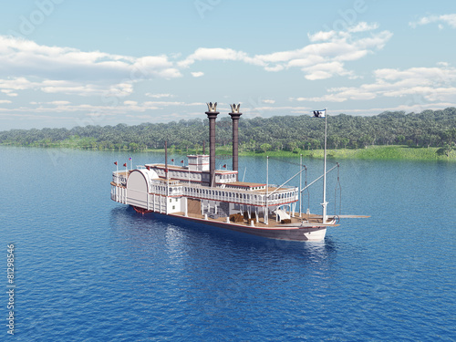 Steamboat of the Mississippi - 81298546