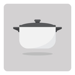 Vector of flat icon, cooking pot on isolated background