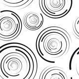 Fototapeta concentric circles seamless pattern