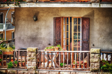 colorful balcony in hdr