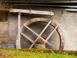 Leinwanddruck Bild - Old mill water wheel