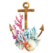 Anchor with corals - 81303107