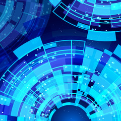 abstract glowing technology background.