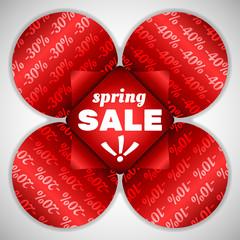 Spring sale red flower
