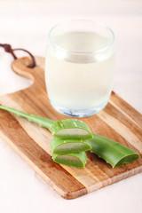 fresh leaf of aloe vera