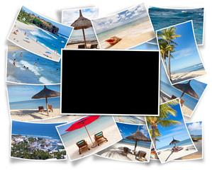 fond noir sur photos de Maurice, Réunion