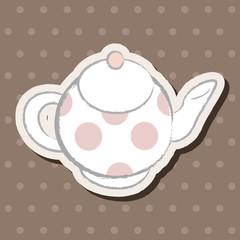 kitchenware teapot flat icon elements, eps10