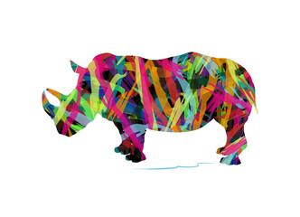 silhouette astratta di rinoceronte