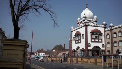 Sikh gurdwara or temple in Handsworth, Birmingham.