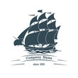 Big sail ship logo icon - 81306724