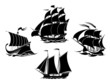Sailboats and sailing ships silhouettes - 81306744