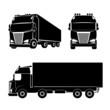 Silhouette truck icon - 81306758