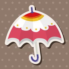 Umbrella theme elemets vector,eps