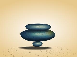stone balance on earth concept