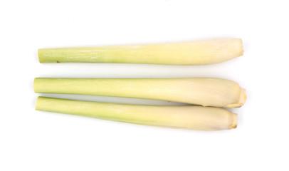 Bundle of lemongrass isolated on white background
