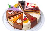 Twelve pieces of cake