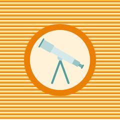 Telescope color flat icon