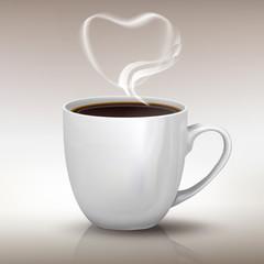 I love black coffee realistic cup