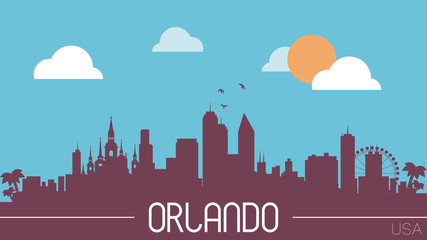 Orlando USA skyline silhouette vector illustration