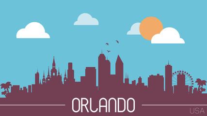 Orlando USA skyline silhouette vector illustration