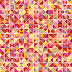 Mosaic of abstract triangles painted in pastel colors