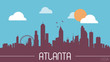 Atlanta USA skyline silhouette flat design vector - 81308522