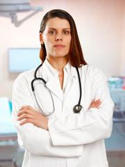 Female doctor in hospital