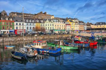 Cobh city port in Ireland